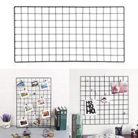 Мульти-функция металлическая сетка панель фото стена Европейский стиль художественный дисплей новый стеллаж для хранения держатель для до...