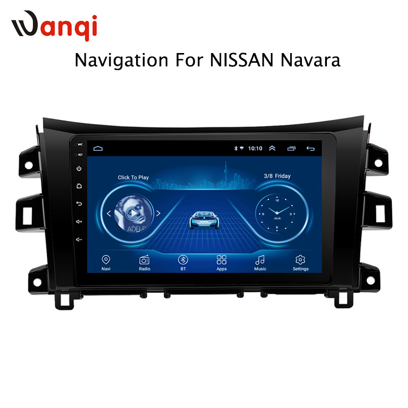 10.1 inch Android 8.1 full touch screen car multimedia system For <font><b>Nissan</b></font> <font><b>navara</b></font> <font><b>NP300</b></font> 2016-2018 car gps radio navigation image