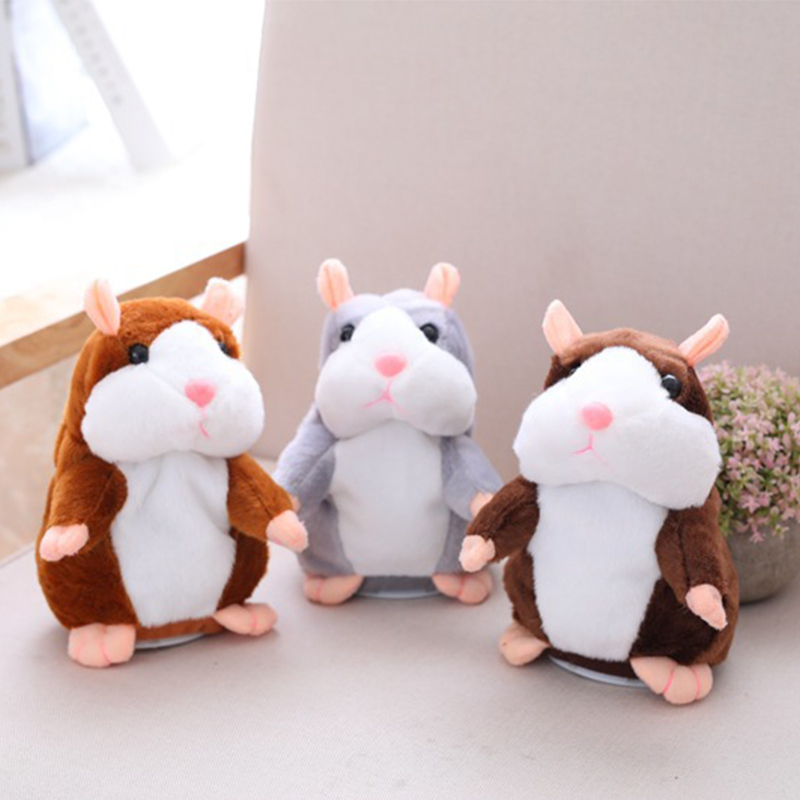 Dropshipping Promotion 15 cm Sweet Talking hamster Speak Sound Recording Repeat Plush kawaii hamster animal Toys