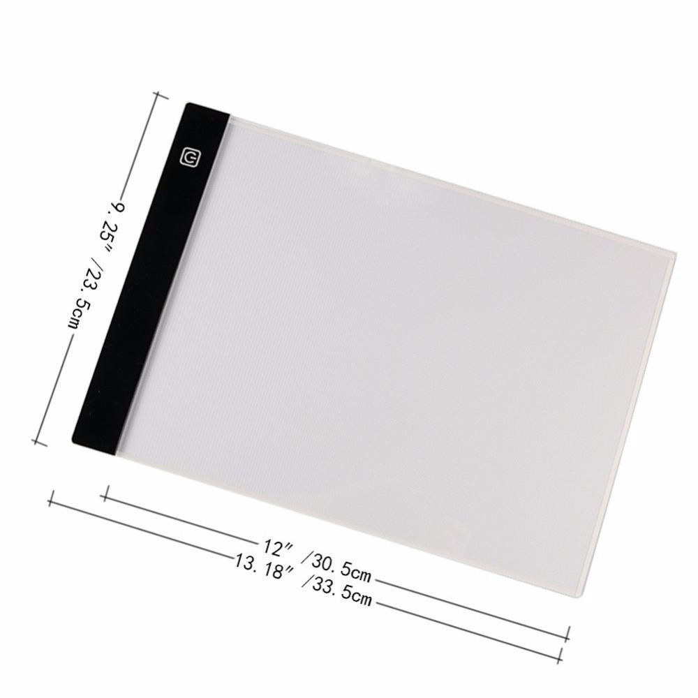 Us 9 99 Free Ship Digital Graphic Tablet A4 Led Artist Thin Art Drawing Board Light Box Tracing Writing Portable Electronic Tablet Pad In Digital