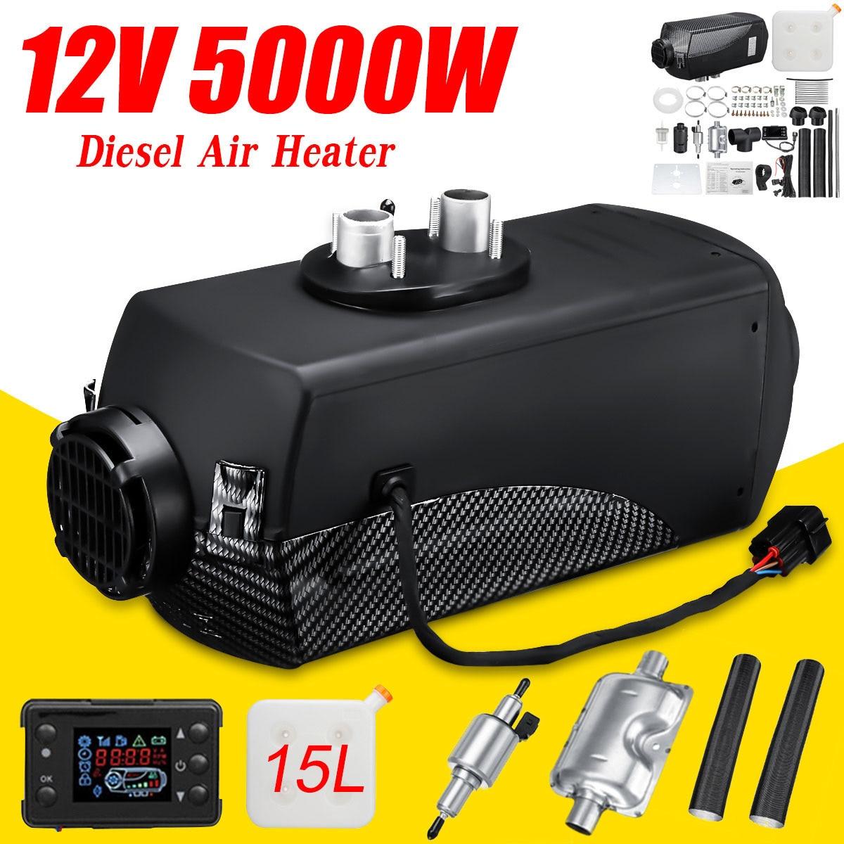 KROAK 12 В 5 кВт автомобильный нагреватель воздуха Дизели нагреватель постоянный термостат стояночный нагреватель + 15л бак с ЖК монитором диста
