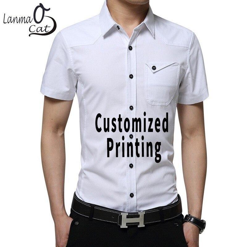b773ff4a Lanmaocat Mens Tee Shirts With Pockets Casual Shirt Custom Printing  Military Uniform Shirts Men Streetwear Shirts