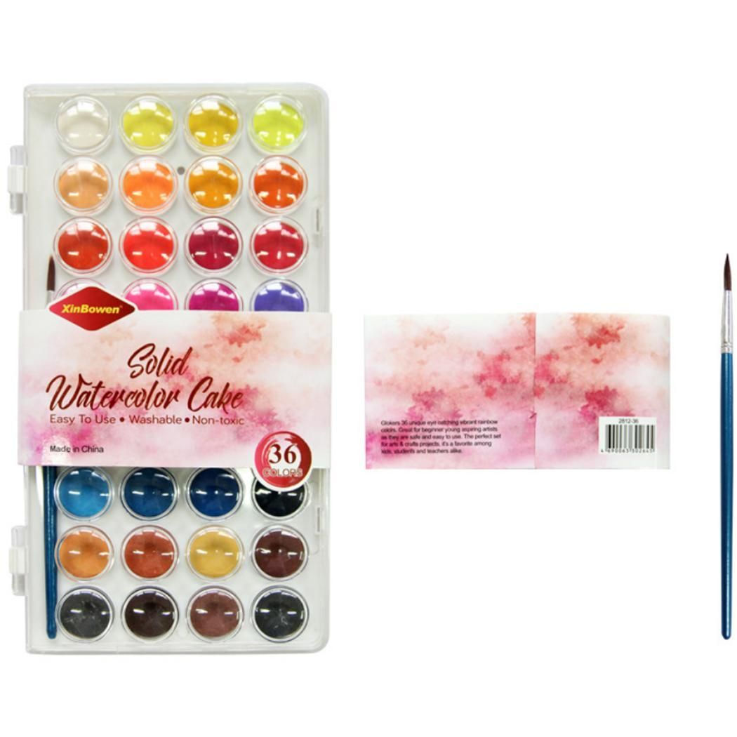 36 Colors DIY Watercolor Art Portable Multicolor of Solid Watercolor Paints Set 2.2cm/0.9inch for Kids36 Colors DIY Watercolor Art Portable Multicolor of Solid Watercolor Paints Set 2.2cm/0.9inch for Kids