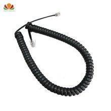 10 шт. 35 см телефонный шнур выпрямить 2 м Микрофон приемник линии RJ22 4C разъем медный провод Телефон кривой громкости кабель телефонной трубки