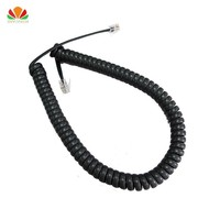 10pcs 35cm Telephone Cord Straighten 2m Microphone Receiver Line RJ22 4C Connector Copper Wire Phone Volume Curve Handset Cable|Telephone Cords| |  -