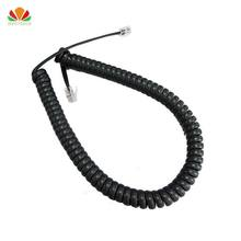 10pcs 35cm Telephone Cord Straighten 2m Microphone Receiver Line RJ22 4C Connector Copper Wire Phone Volume Curve Handset Cable