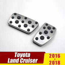 For Lexus LX LX570 2013-2018 Toyota Land Cruiser lc200 2016 2017 2018 AT Car Accelerator Pedal Brake Pedals Cover Case Pads