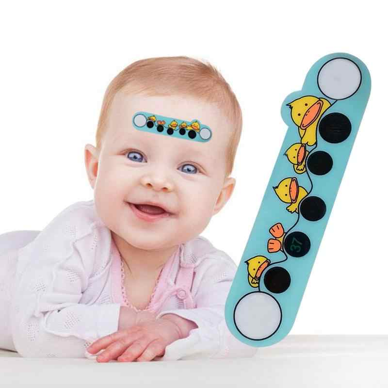 Baby Cartoon Animal Forehead Thermometers Sticker LCD Digital Strip Body Fever children Care Thermometer