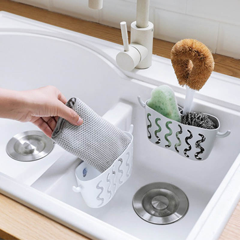 1 PC Sink Hanging Basket Kitchen Gadgets Soap Holder Waterproof Bathroom Accessory Sponge Drain Baskets Sucker