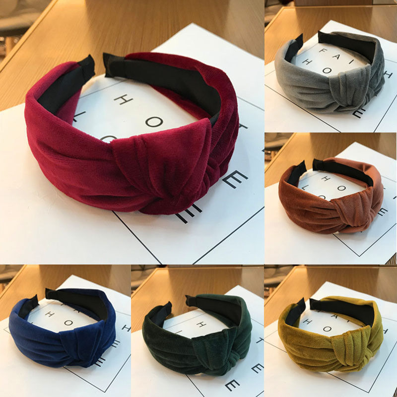 New Women Multicolor Velvet Hairbands Fashion Headband Twist Crossed   Headwear   Hairband Vogue Girls Accessories Headgear