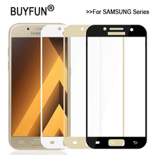 3D Full Cover Tempered Glass For Samsung Galaxy A3 A5 A7 2017 A320F A520F A720F Screen Protector Case For Galaxy A720 A520 A320
