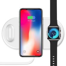 Wireless Charger Fast For iPhone X XR Xs Max Apple Watch iWatch AirPods Mobile Phone Charge Samsun