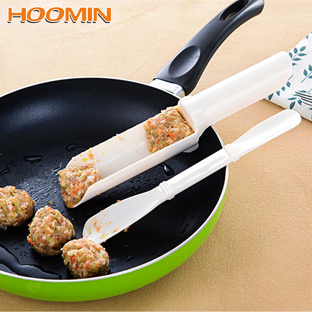 HOOMIN 1 Set Meatballs Mold Meat Shovel Meat Ball Maker Plastic Fish Shrimp Balls Meatloaf DIY Mould Kitchen Cooking Tools image