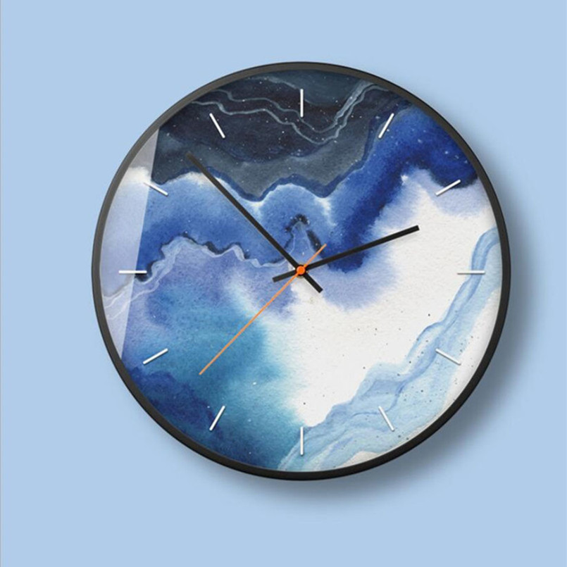 New 3D Wall Clock 12inch/14inch Quartz Wall Clock Modern Design Abstract Wall Watch For Home Metal Circular Clock Dropshipping