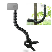 Camera Holder Stand Flexible Clamp Mount Clip Adjustable Neck Arm Tube with 1/4 Inch Screw Photography Accessory for GoPro Hero