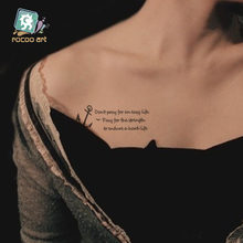 ca8b2f09fd634 HC-210/Newest Beauty Taty Temporary Body Tattoo Stickers Waterproof Letter  Anchor TempoTattoos On Chest Wrist For men women