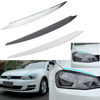 ABS Chrome For Volkswagen for VW GOLF 7 headlight trim lamp eyebrow headlight cover trim decoration for GOLF7 GTi MK7 image