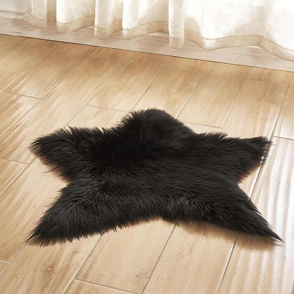 Fish Shaped Ground Mat Furry Artificial