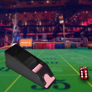 Carte da gioco Che Si Occupa di Scarpe Luce Durevole Nero Trasparente Rivenditore Tiene 1-6 Mazzi di Carte Da Gioco Di Plastica
