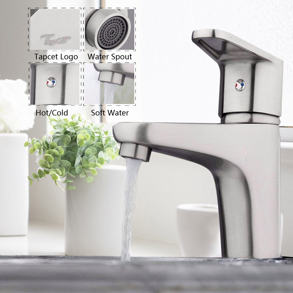 Xueqin Nickel Brushed Bathroom Sink Faucet Taps Single Handle Single Hole Basin Mixer Tap Bathtub Kitchen Faucet Cold And Hot nickel brushed bathroom lavatory faucet hot and cold single lever ceramic handle bathroom basin faucet sink mixer tap