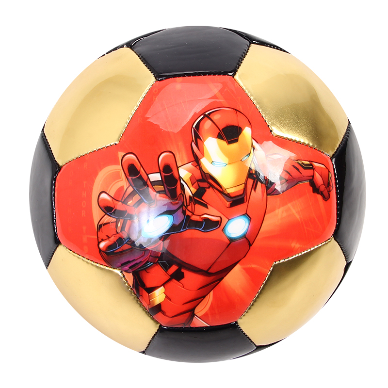 Avengers Football PVC Size 3 Team Sports Colorfull Dazzle Football Training Soccer Ball For Kids Play Students Soccer Free Ship
