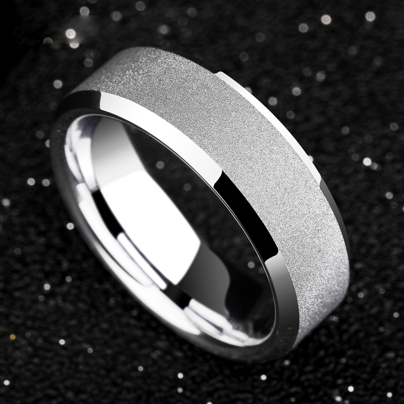 2019 New Arrival Classic Unisex 4mm/7mm Width White Tungsten Carbide Ring Band Matte Polished Finished for Woman Man Size 5-122019 New Arrival Classic Unisex 4mm/7mm Width White Tungsten Carbide Ring Band Matte Polished Finished for Woman Man Size 5-12