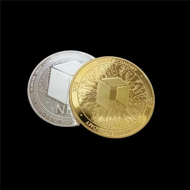 NEO Coin Virtual Metal Commemorative Coin NEO Virtual Coin Bitcoin Commemorative Coin Customized Medal Giveaway 1