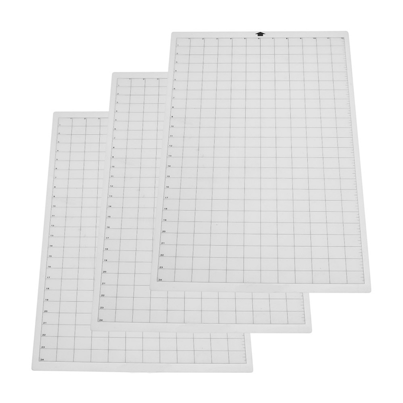 3Pcs Replacement Cutting Mat Transparent Adhesive Mat With Measuring Grid For Silhouette Cameo Cricut Explore3Pcs Replacement Cutting Mat Transparent Adhesive Mat With Measuring Grid For Silhouette Cameo Cricut Explore