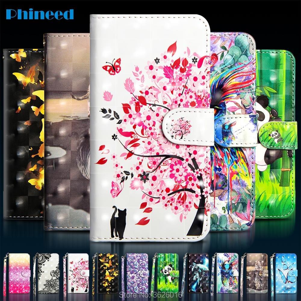 Phone Etui Coque Cover Case For Xiaomi Redmi Note 5 5A 6 6A 7 7A 7S Plus K20 Pro Prime S2 Y1 Y2 Y3 Lite With 3D PU Flip Wallet