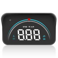 Car HUD Head Up Display M8 OBD2 II Overspeed Warning System Speed Projector Voltage Engine RPM Alarm Display Car Electronics