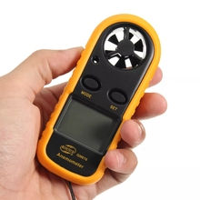 Digital Anemometer Wind Speed Meter Anemometro Air Guage Temperature 30m/s -10~45C LCD Backlight Display Handheld