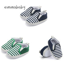 2019 Brand New Pram Newborn Toddler Baby Girls Boys Kids Infant First Walkers Striped Classic Shoes Loafers Casual Soft Shoes(China)