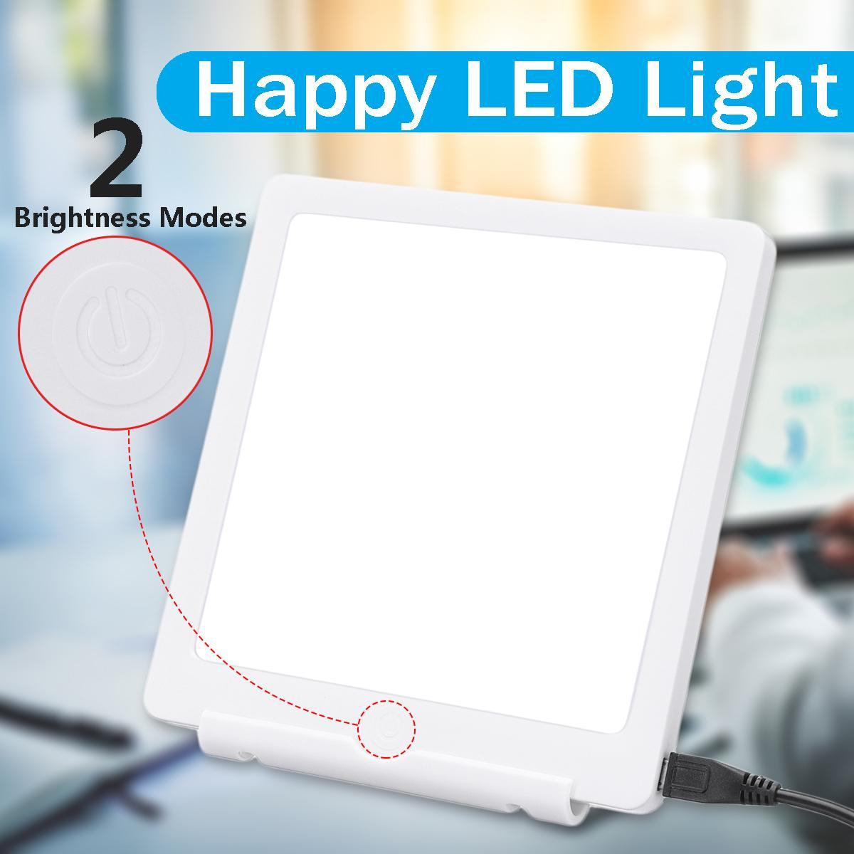 5 W triste photothérapie lumière 10000 LUX Bionic-lumière du jour trouble affectif USB lampe à LED thérapie soulagement réglable sans fatigue