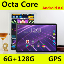 New Android 8.0 OS 10 inch tablet pc Octa Core 6GB RAM 128GB ROM 8 Cores 1280*800 IPS  Tablets 10.1 Gift