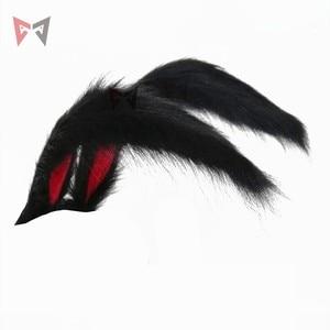 Image 1 - Neue Kaninchen Königreich Cosplay Carnaval Gothic Lolita Acessories Fuchs Ohr Haar Hoop Headwear Für Mädchen Frauen Kinder Hand Arbeit