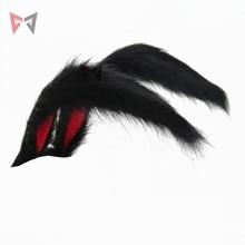Nuevo conejo Reino Cosplay Carnaval gótico Lolita accesorios oreja de zorro Aro para la cabeza para niñas mujeres niños trabajo manual