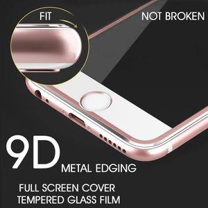 Image 3 - Ochraniacz ekranu ze stopu aluminium 9D na iPhone 6 7 8 Plus X pełne szkło hartowane dla iPhone 11 pro 8 SE 5S szkło ochronne