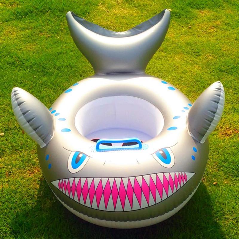 Crianças Dos Desenhos Animados Tubarão Inflável Anel de Natação Anel Criança Círculo Flutuador Assento Float Aid Instrutor Float Envio Aleatório de Água Para O Miúdo