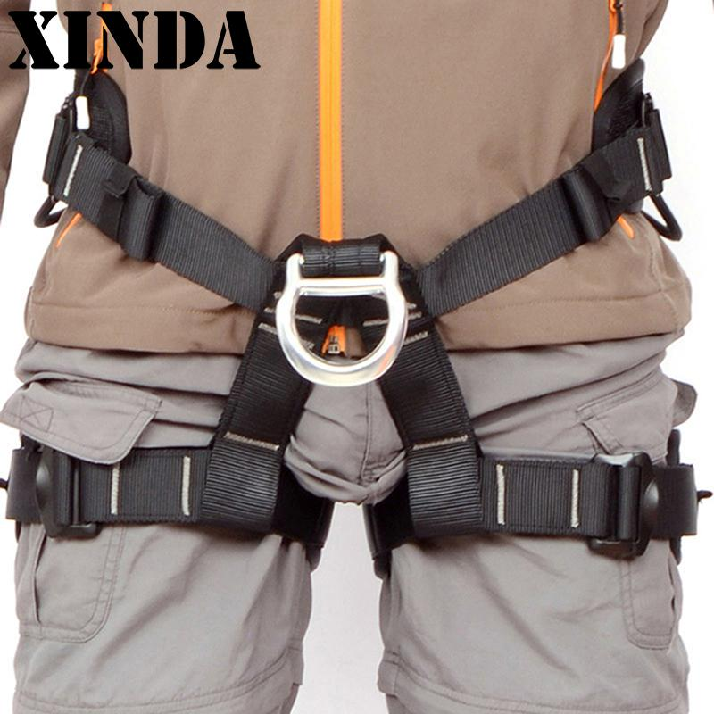 Sportman Harness Seat Sitting Bust Belts For Outdoor Rock Climbing Rappelling Equipment Camping EDC Survival Carabiner FY0477