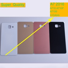 50Pcs/lot For Samsung Galaxy A7 2016 A710 A710F A7100 Housing Battery Cover Back Cover Case Rear Door Chassis A7 2016 Shell for samsung galaxy a710 a710f a7100 a7 2016 housing battery cover door rear chassis back case housing glass replacement