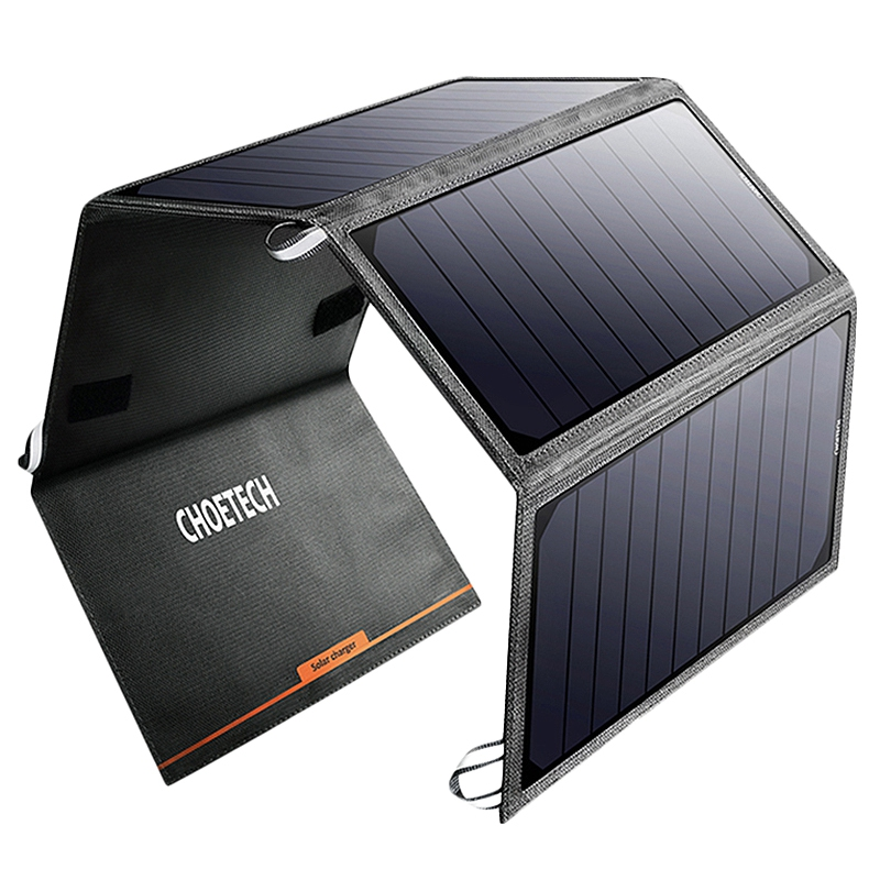 CHOETECH Solar Panel Charger 24W Solar Cell Charger For Iphone USB Port Portable Battery Char For Xiao Mi HuaweiCHOETECH Solar Panel Charger 24W Solar Cell Charger For Iphone USB Port Portable Battery Char For Xiao Mi Huawei