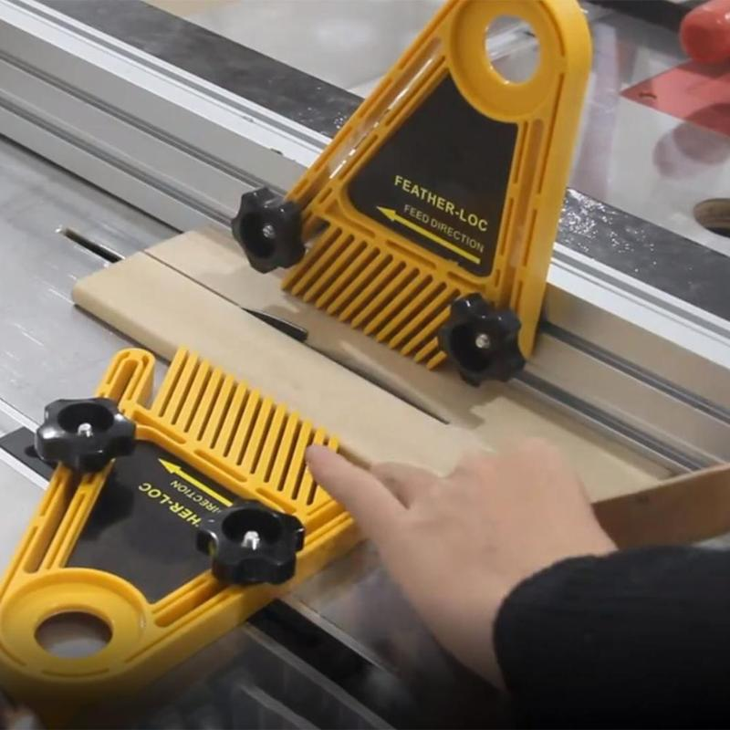Double Featherboard For Trimmer Router Table Saw Fence Woodworking Tool Set