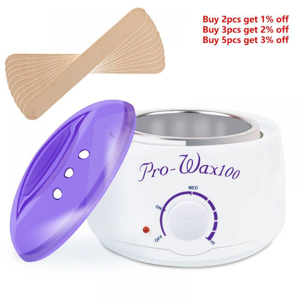 Manooby New Professional Warmer Hair Removal Wax Spa Hand Epilator Machine Heater Wax Beans Stickers Hair Removal Sets Hair Removal Cream Shaving & Hair Removal
