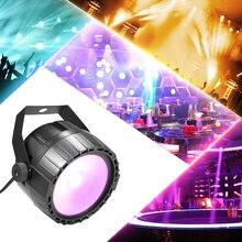 Disko 10W RGB UV COB LED Par ışık kablosuz uzaktan kumanda sahne parlak pürüzsüz aydınlatma lambası DJ DMX ışıkları parti barlar için gösterisi