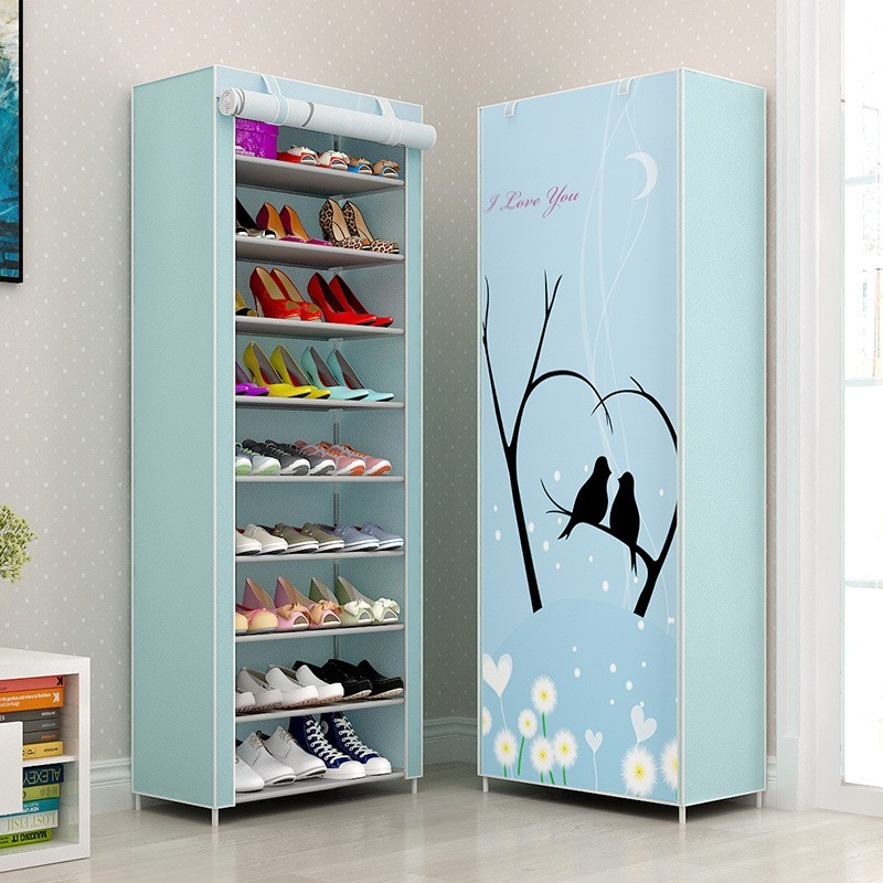Multi-layer Waterproof Metal Shoe Cabinet Organizer Storage Bench Minimalist Shoebox Living Room Furniture Stand For Footwear