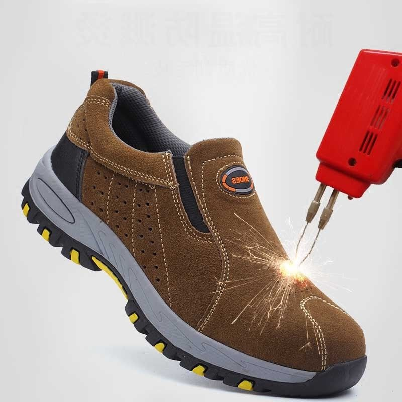 Steel Toe Lightweight Men Work Safety Shoes Atrego Safety Anti-smashing Anti-puncture Slip-on Shoes For Hiking Climbing SneakersSteel Toe Lightweight Men Work Safety Shoes Atrego Safety Anti-smashing Anti-puncture Slip-on Shoes For Hiking Climbing Sneakers