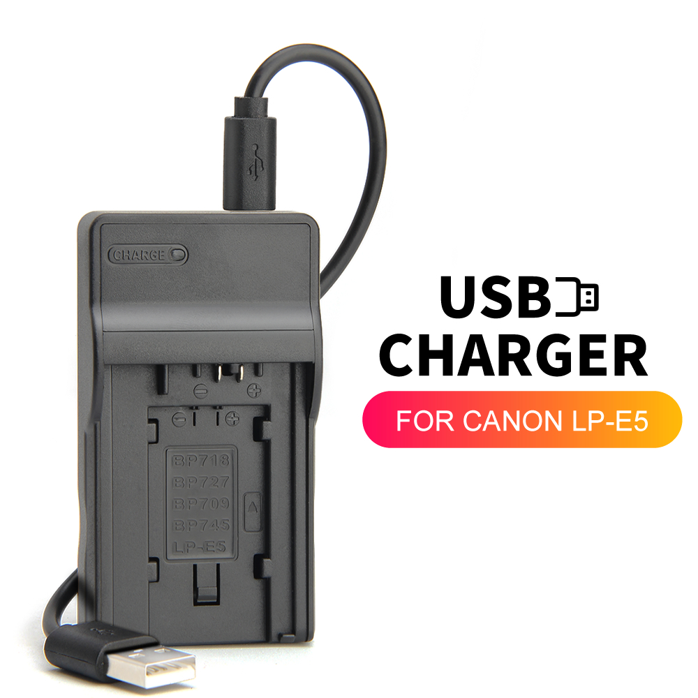 LP-E5 LPE5 LC-E5E LC-E5C LCE5 USB Battery charger For Canon Camera EOS 450D 500D 1000D Kiss F X2 X3 Rebel XSi TLi image