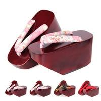 Women's Summer Wood Sandals Matte Painted Flip Flops Japan Geta Kimono Slippers Super High Heel Geisha Cosplay Shoes H9023