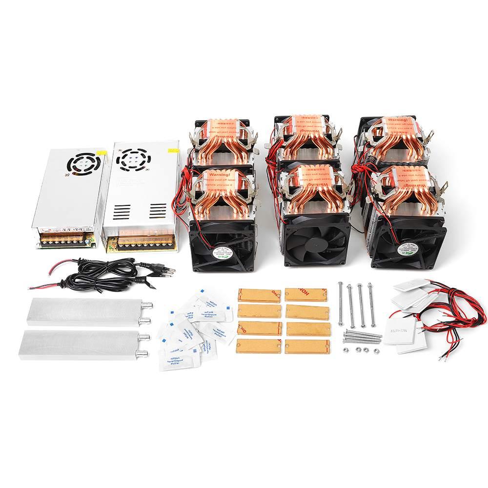 Kit de bricolage de Module de réfrigération de semi-conducteur de refroidissement de Tube de cuivre de quadruple-noyau de puissance élevée avec l'alimentation d'énergie