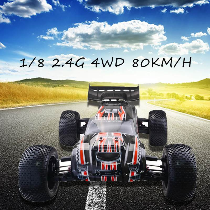 US $334 5 54% OFF|ZD Racing 9021 V3 1/8 2 4G 4WD 80km/h Brushless Rc Car  Full Scale Electric Truggy RTR Toys High Quality-in RC Cars from Toys &